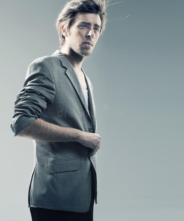Smart Guy Wearing Stylish Jacket Royalty Free Stock Image