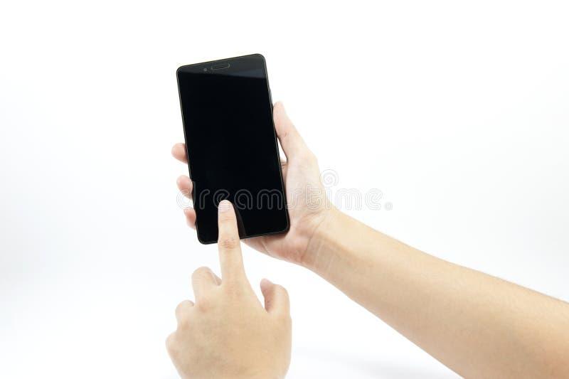 smart handholdingtelefon arkivbild