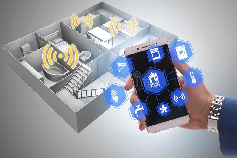 Smart hem- begrepp med apparater och anordningar arkivfoton