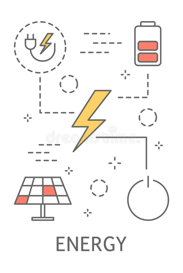 Smart hemenergi stock illustrationer