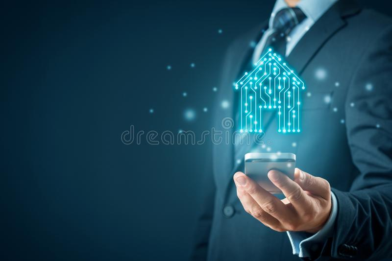 Smart home app concept royalty free illustration