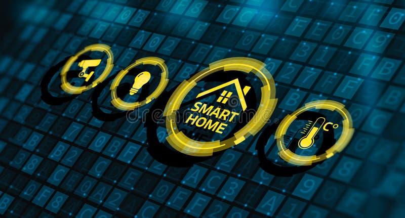 Smart home automation control system innovation technology stock illustration
