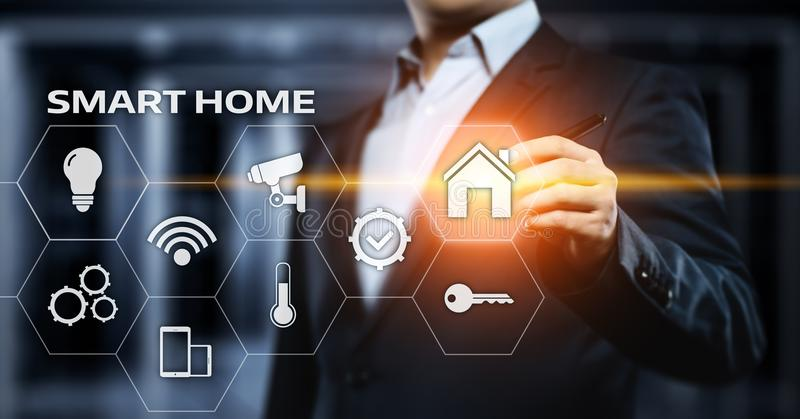 Smart home Automation Control System. Innovation technology internet Network Concept.  royalty free stock photography