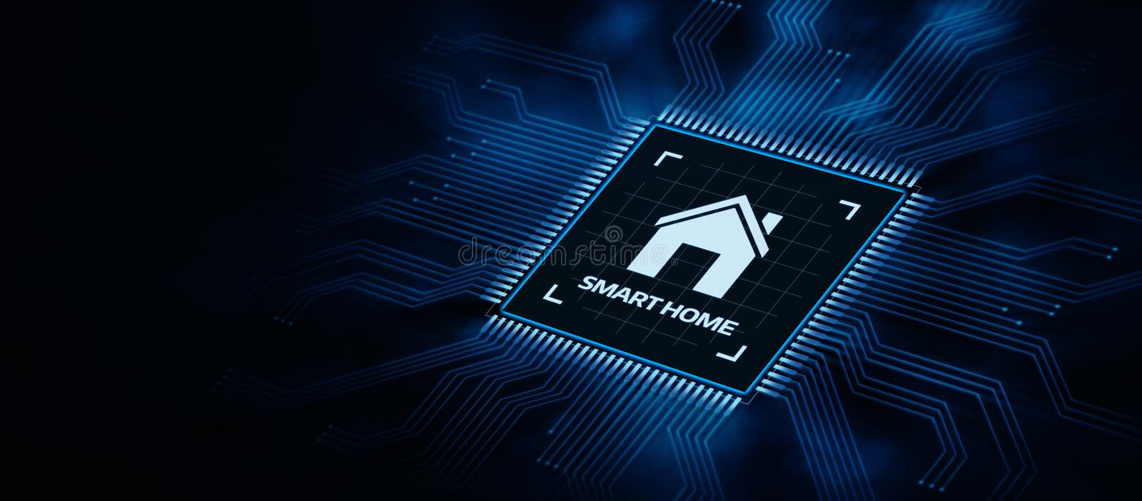 Smart Home Automation Control System Innovation Technology vector illustration