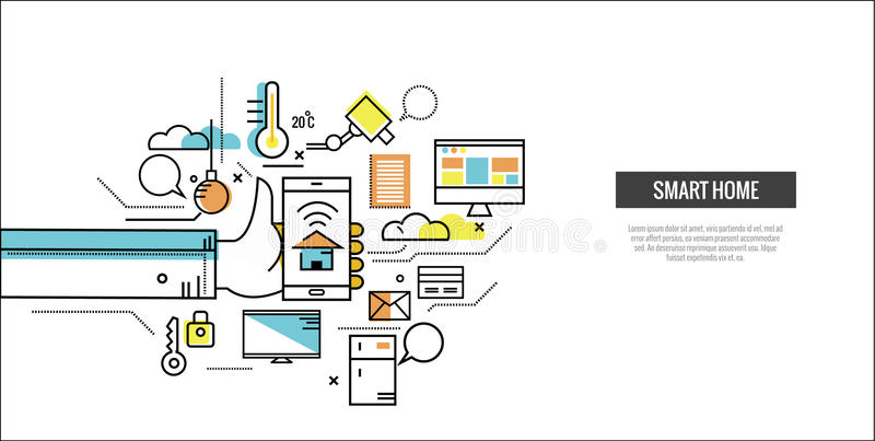 Smart Home Concept. Control Home By Smartphone. Stock Vector ...