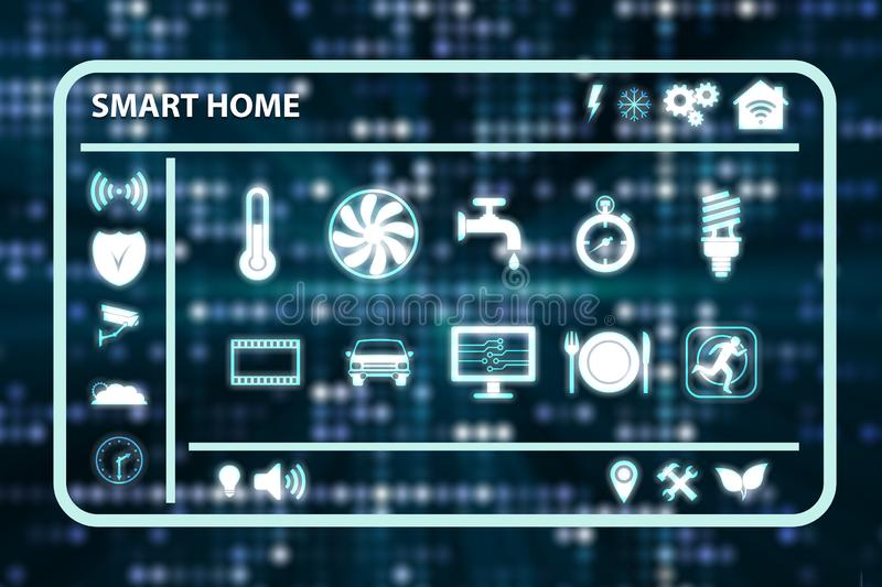 The smart home concept - 3d rendering stock illustration
