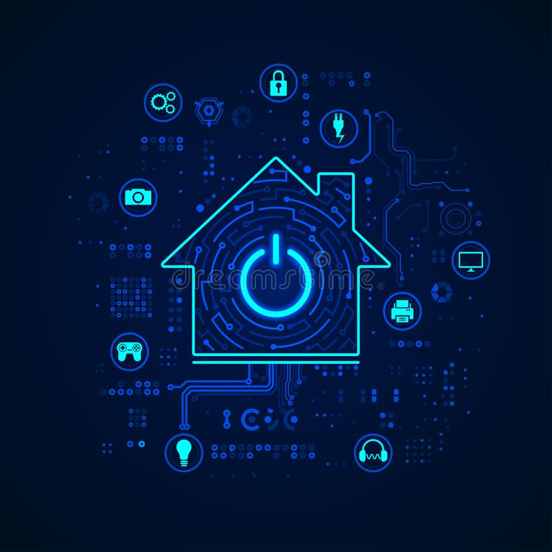 smart home royalty free illustration