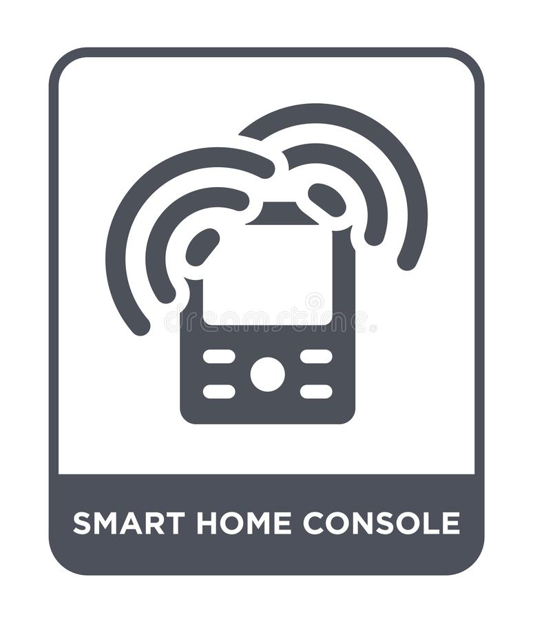 smart home console icon in trendy design style. smart home console icon isolated on white background. smart home console vector stock illustration