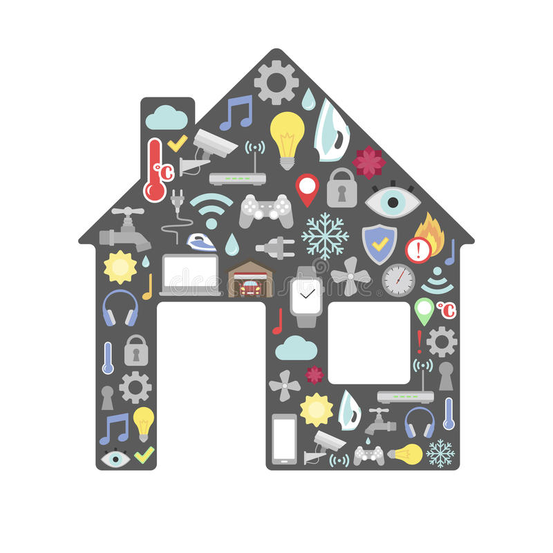 Smart home control concept. royalty free illustration