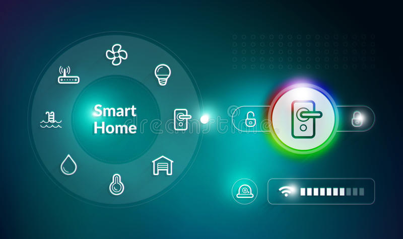 Smart Home Control System royalty free illustration