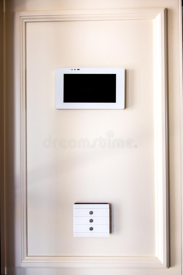 The smart home control system. royalty free stock images