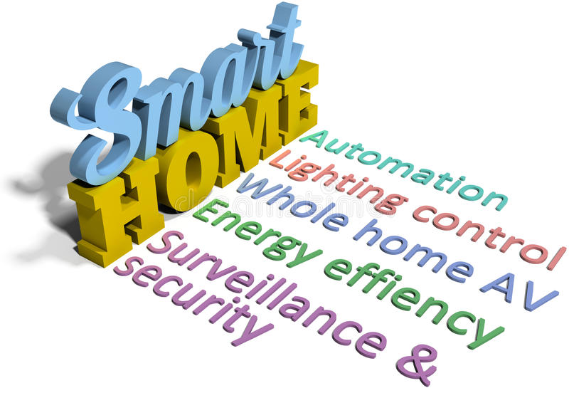 Smart home efficient automation tech royalty free illustration