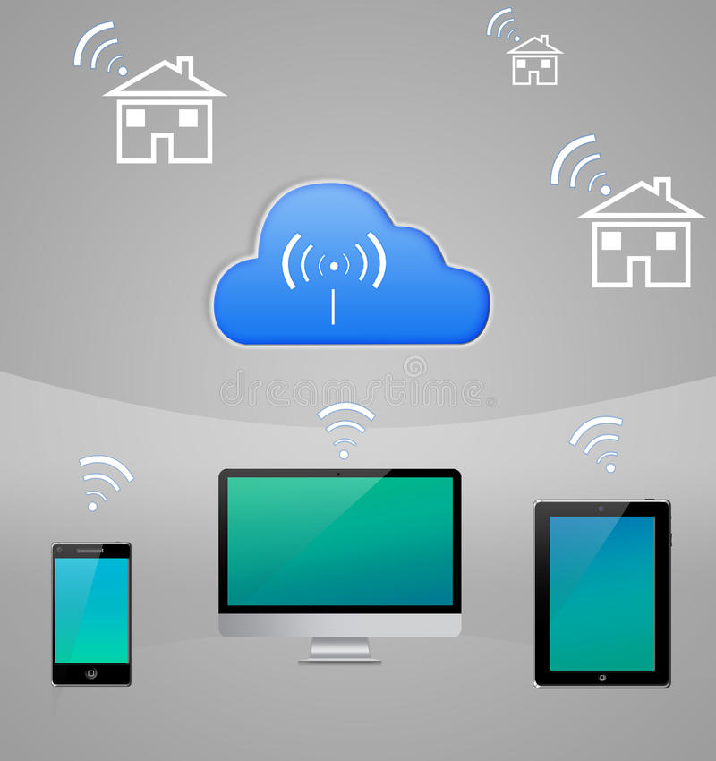 Smart Home Internet Cloud Technology Royalty Free Stock Photos