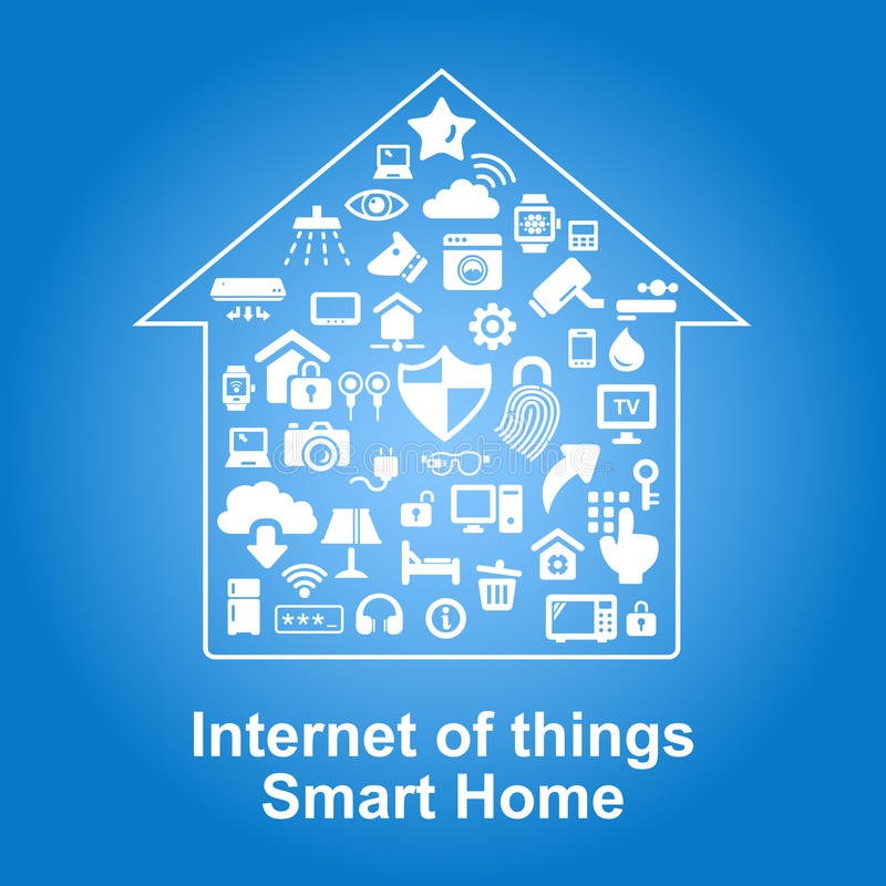 Smart Home by internet concept royalty free illustration