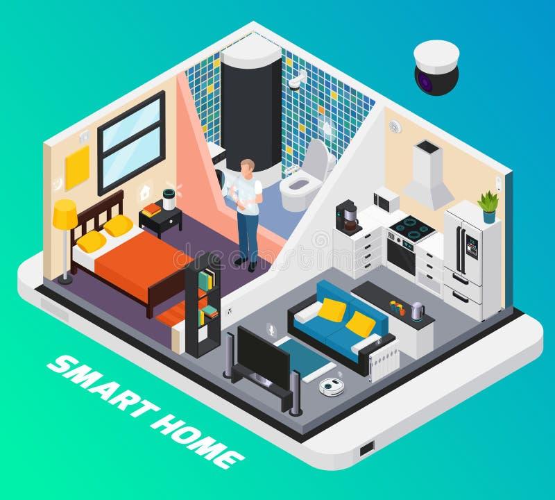 Smart Home Isometrische Samenstelling vector illustratie