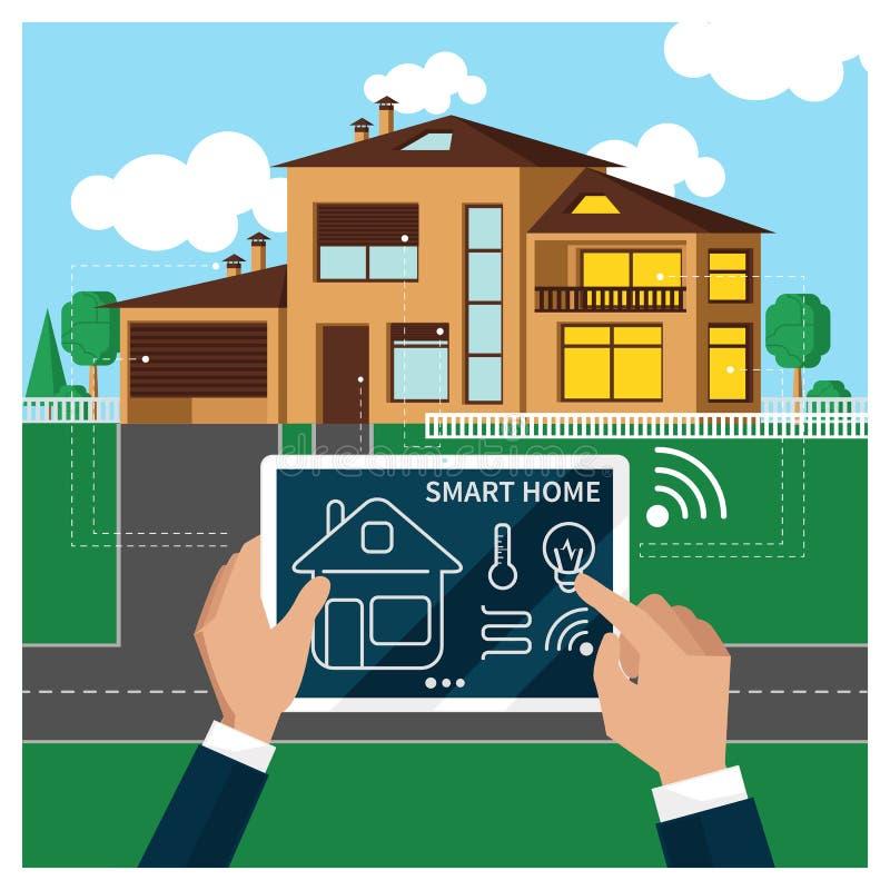 Smart home stock illustration