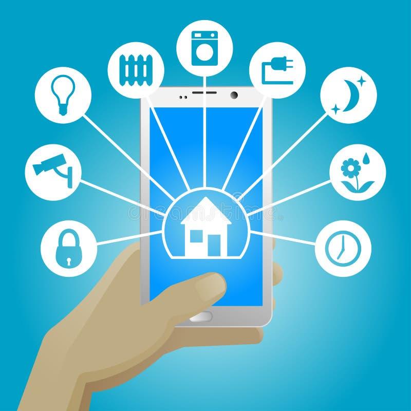 Smart Home In Smartphone Stock Vector Image 62226135