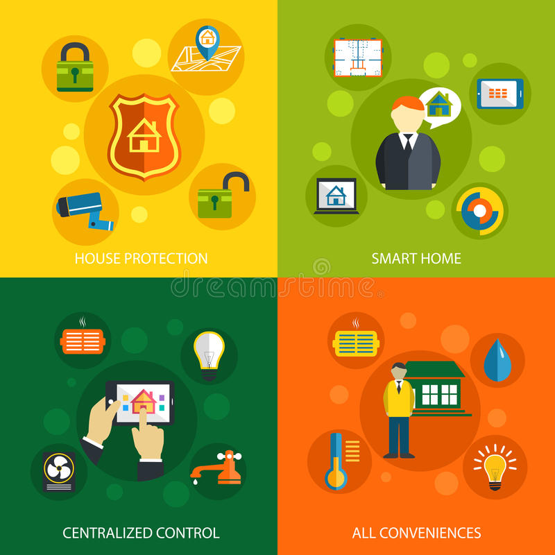Smart home technology concept royalty free illustration