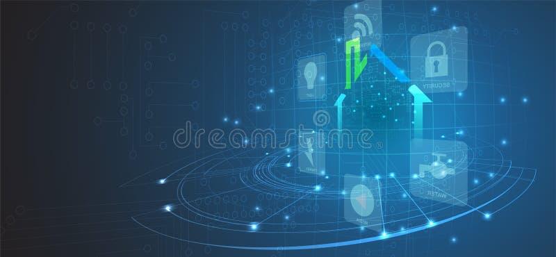 Smart home technology futuristic concept for business background. Smart home technology futuristic concept for business web background royalty free illustration