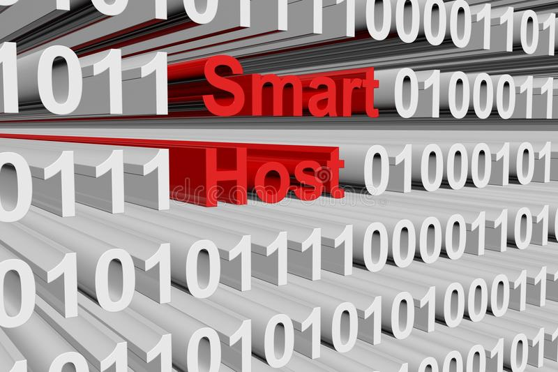 Smart host. In the form of binary code, 3D illustration vector illustration