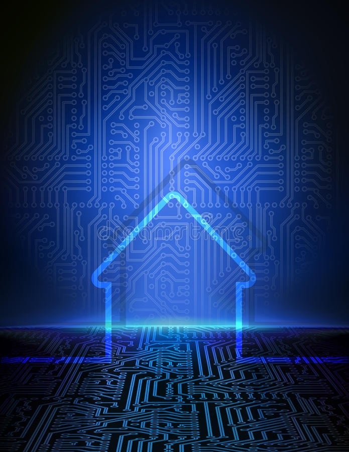 Smart house abstract background royalty free illustration