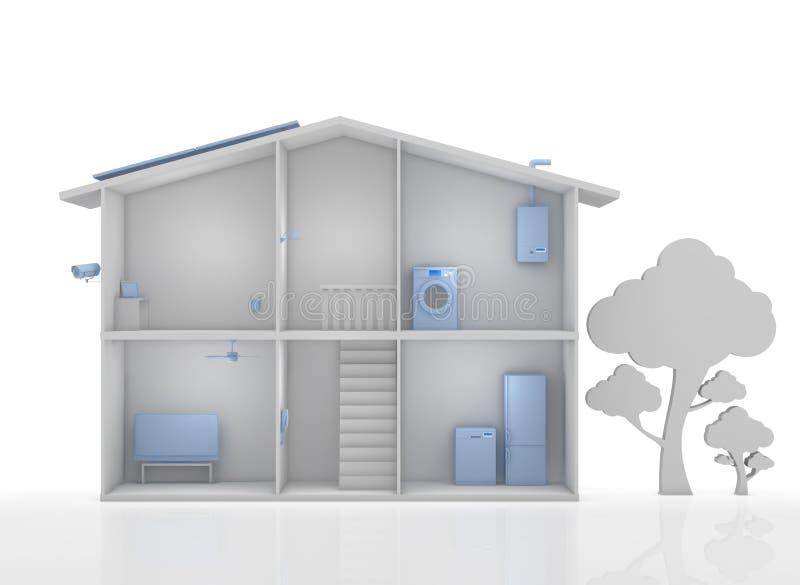 Smart house vector illustration