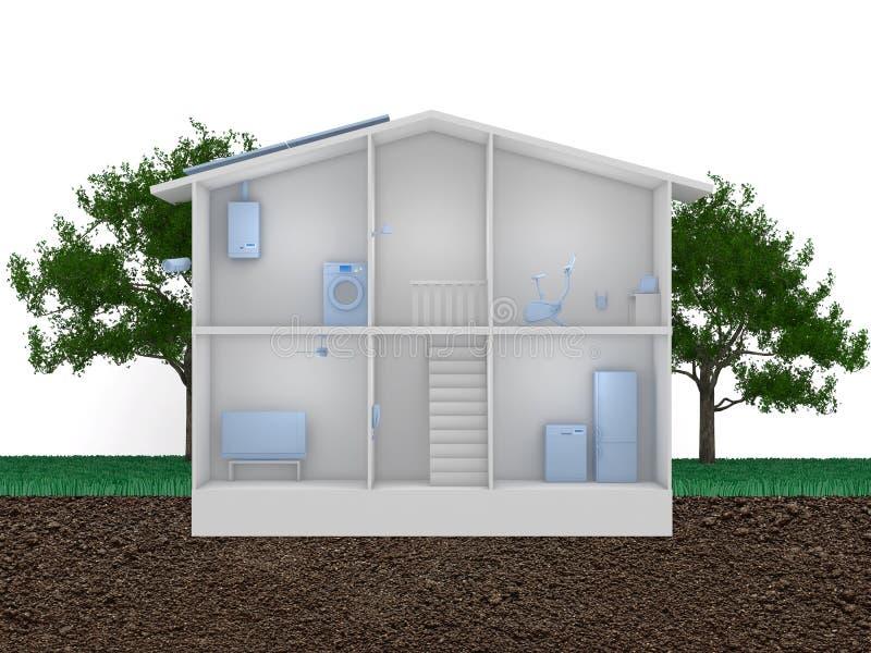Smart house concept stock illustration