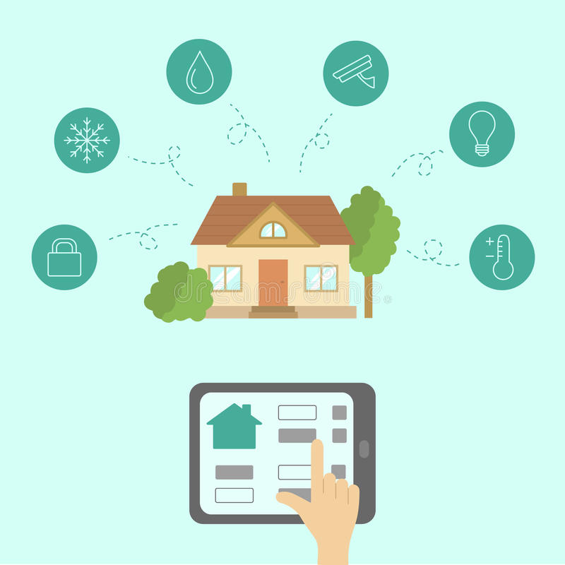 Smart house concept. royalty free illustration