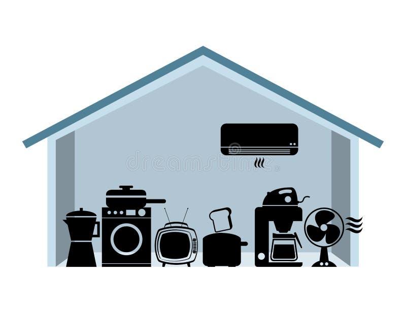 Smart house stock illustration