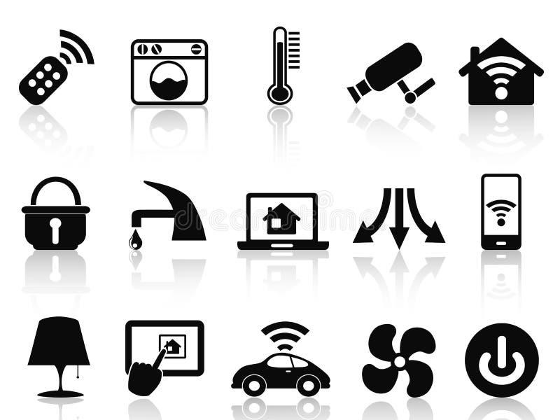 Smart house icons set stock illustration