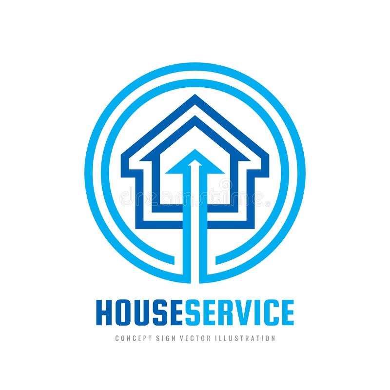 Smart house logo design template. Build vector sign. Home digital electronic technology icon. Real estate business investment. stock illustration