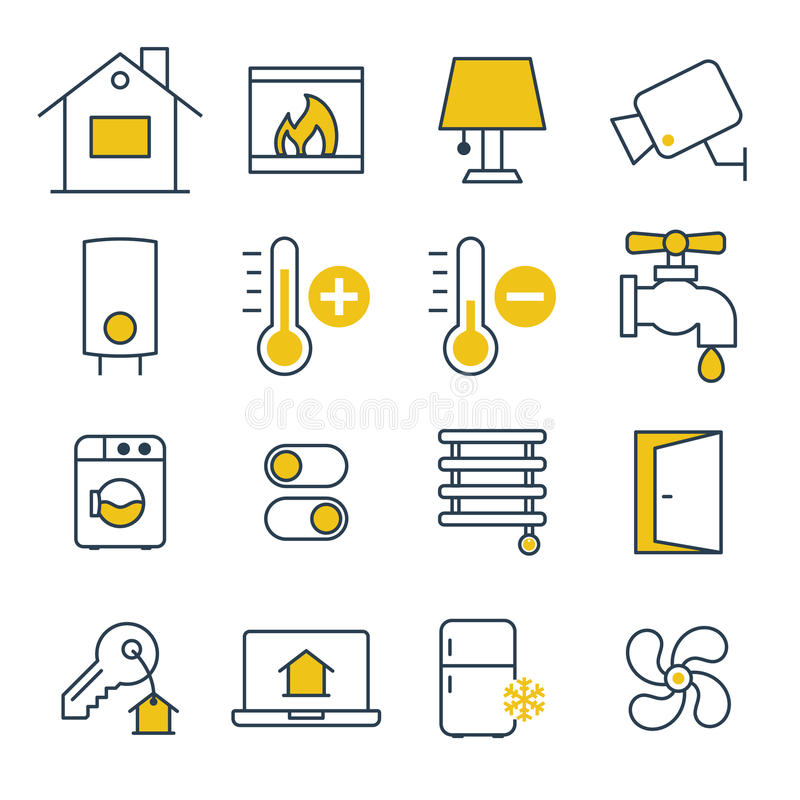 Smart House management Icons vector illustration