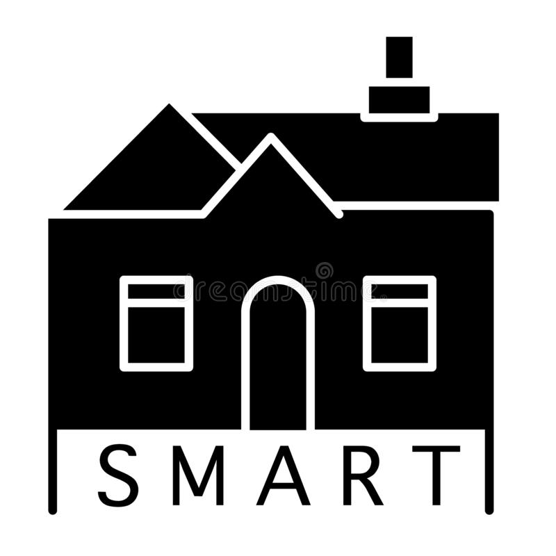 Smart house solid icon. Smart home illustration isolated on white. Building glyph style design, designed for web and app vector illustration