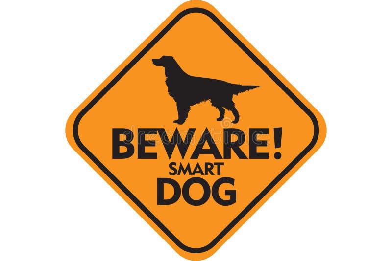Download Smart hund stock illustrationer. Bild av signboard, yellow - 36785