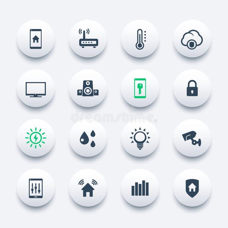 Smart hussymbolsuppsättning stock illustrationer