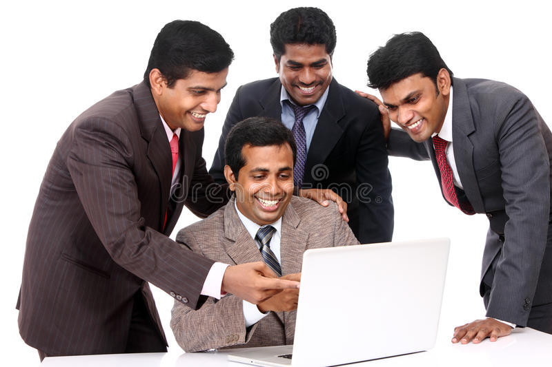 Download A Smart Indian Business Team Stock Photo - Image of notebook, people: 22967222