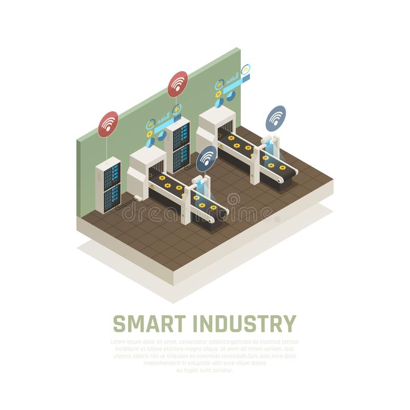 Smart Industry Concept royalty free illustration