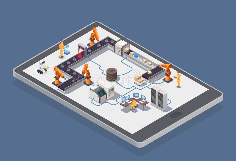 Smart Industry Isometric Composition royalty free illustration