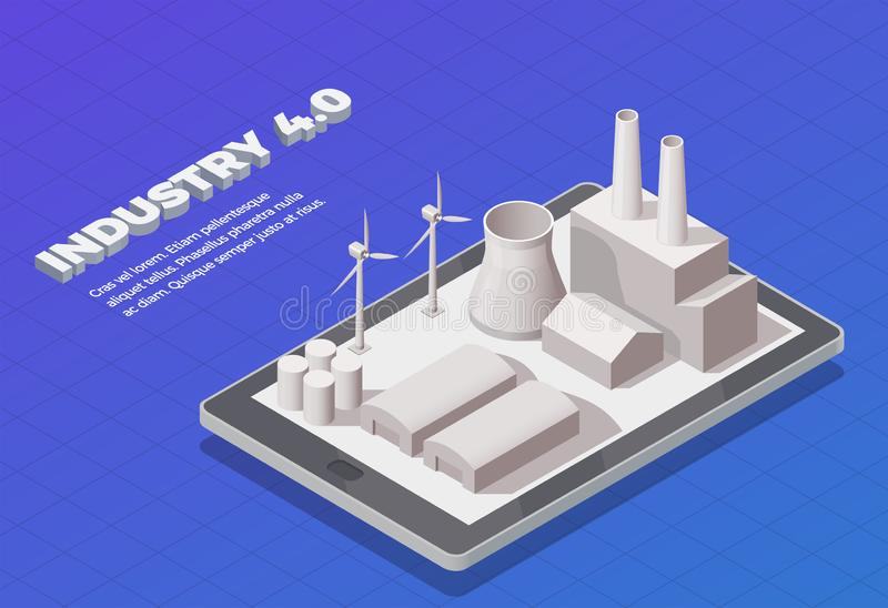 Smart Industry Isometric Concept royalty free illustration