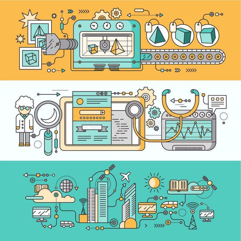 Smart innovationteknologi stock illustrationer