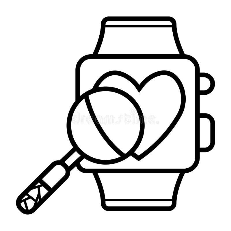 Smart klockasymbol vektor illustrationer