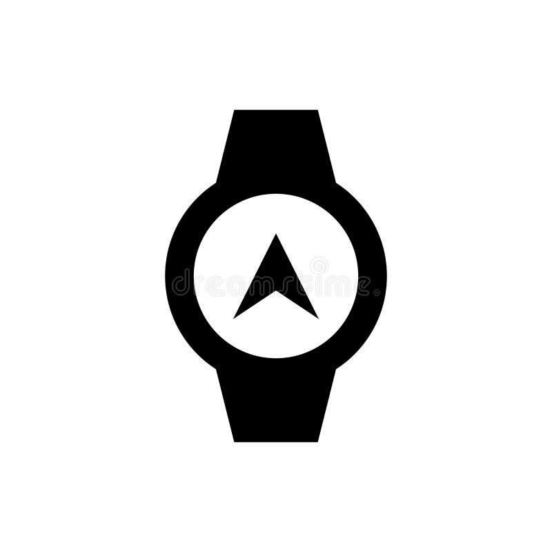 Smart klockasymbol Kompasstecken stock illustrationer