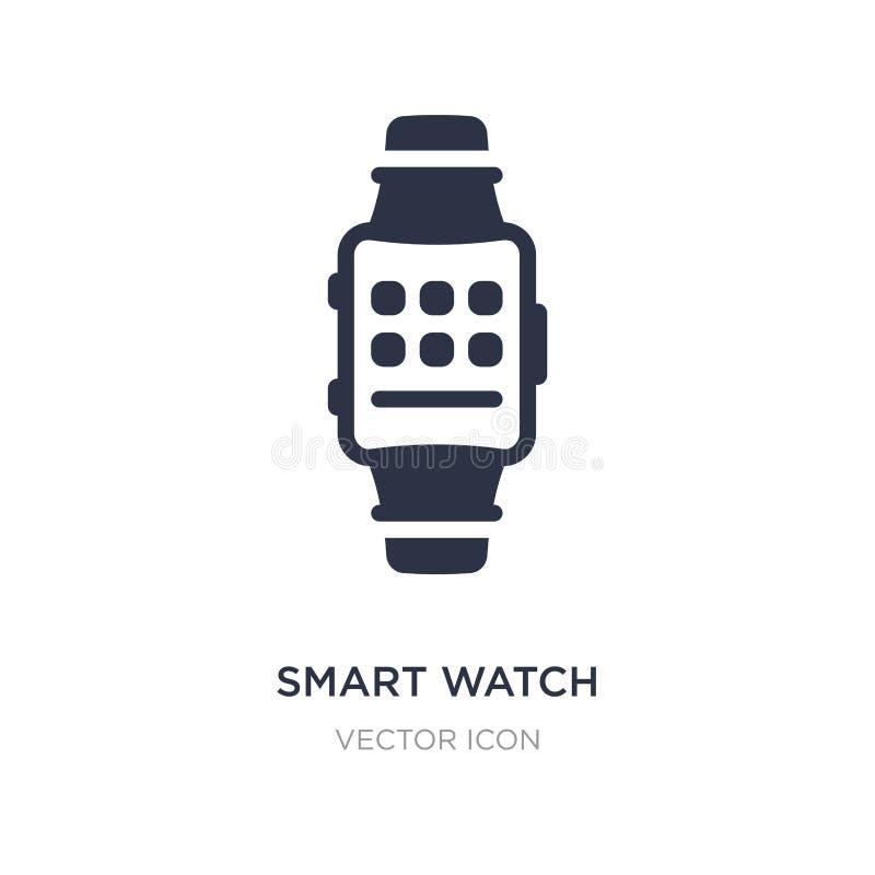 smart klockasymbol på vit bakgrund Enkel beståndsdelillustration från teknologibegrepp royaltyfri illustrationer