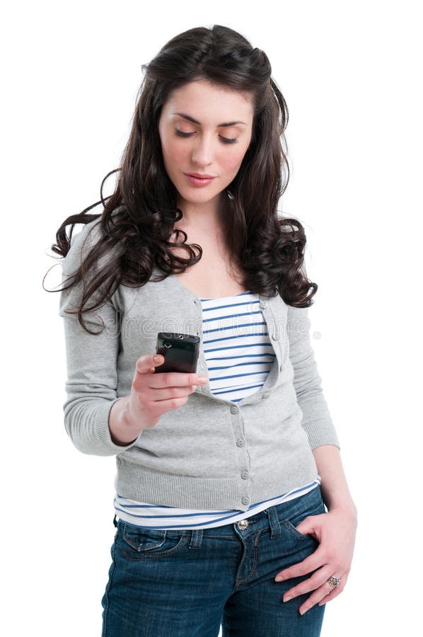 smart kommunikationstelefon royaltyfri bild