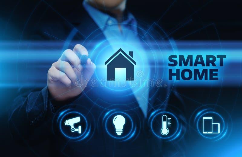 Smart kontrollsystem för hem- automation Begrepp för nätverk för innovationteknologiinternet royaltyfri illustrationer