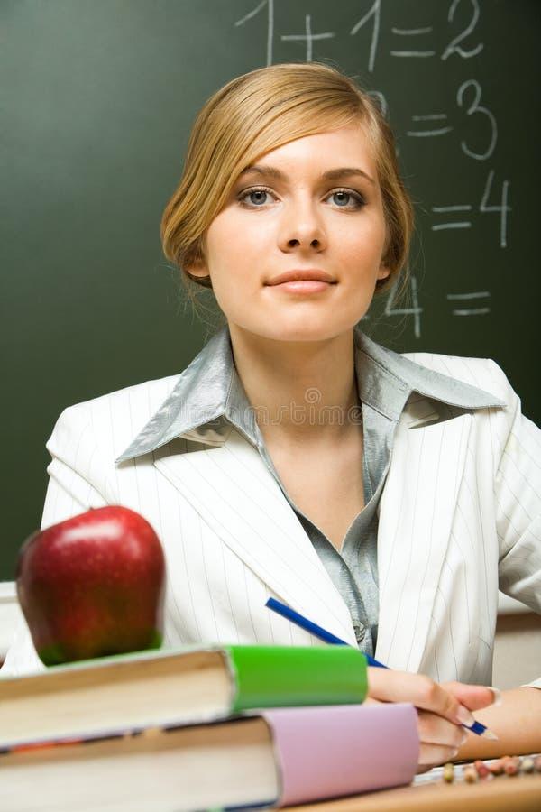 smart lärare arkivfoto