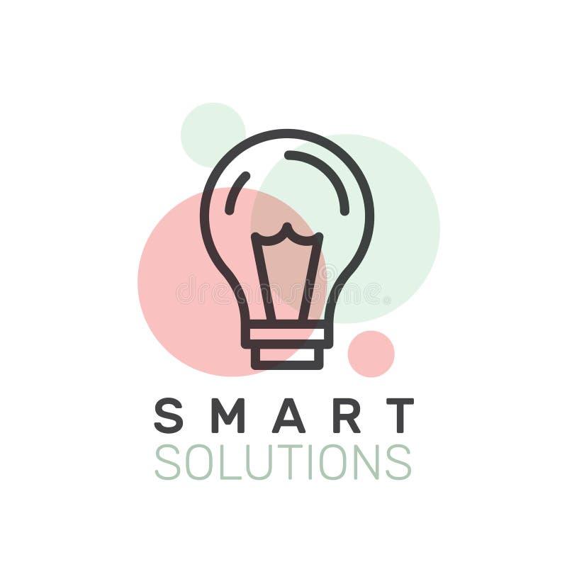 Smart lösning som tänker utanför asken vektor illustrationer