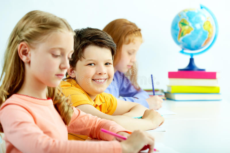 Download Smart lad stock photo. Image of learn, focus, little - 22272770