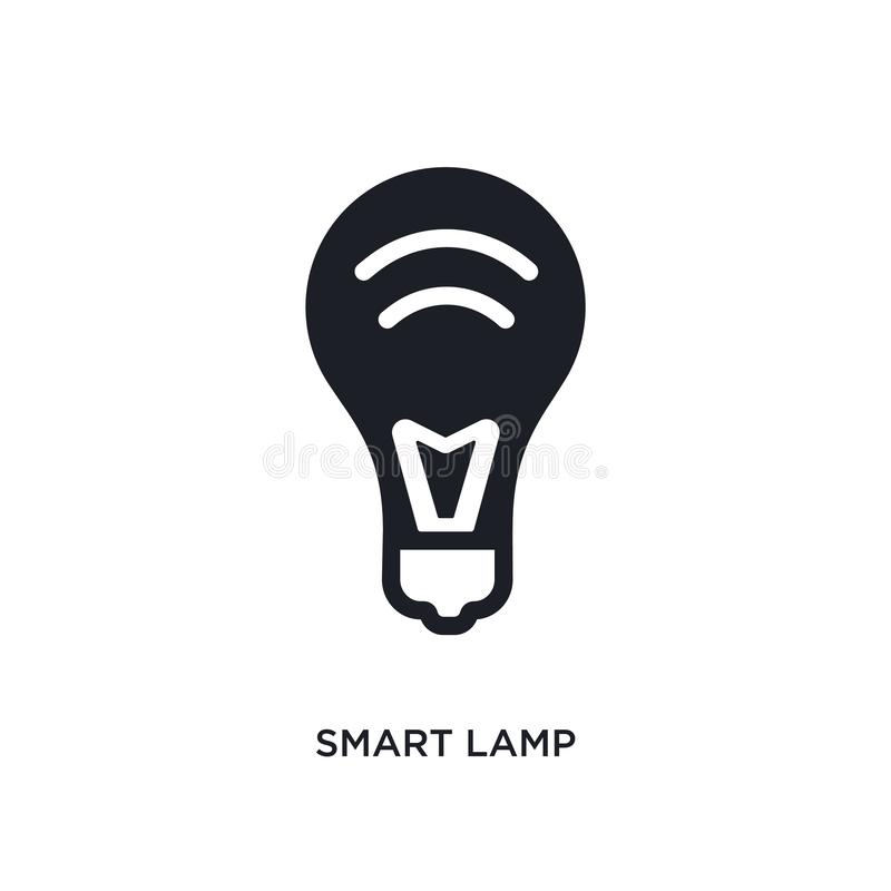 smart lamp isolated icon. simple element illustration from smart home concept icons. smart lamp editable logo sign symbol design vector illustration