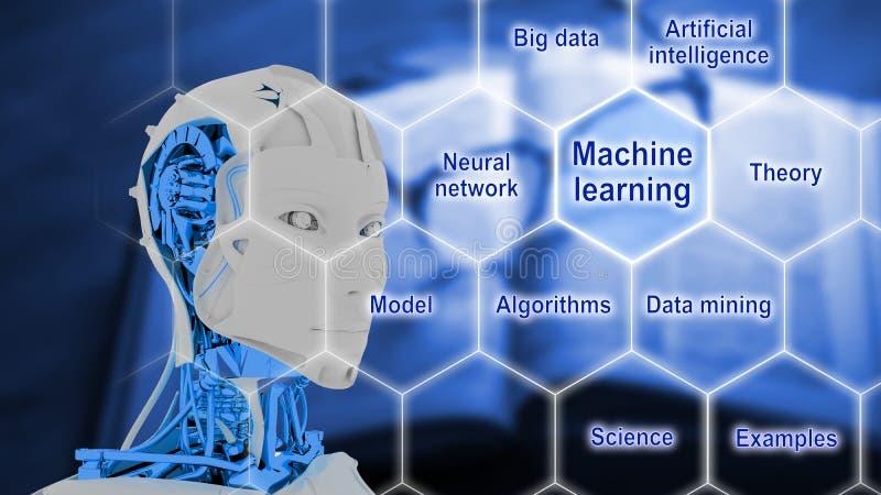 Smart lavora il concetto a macchina di intelligenza artificiale illustrazione vettoriale
